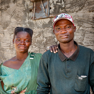Aaron Phiri and his mother